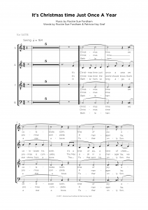 It's christmas time just once a year - Vocal ensamble sheet music