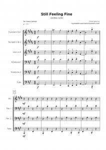 Still Feeling Fine - Horn section sheet music
