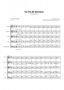 Va Vis et Deviens - Armand Amar - String quartet sheet music