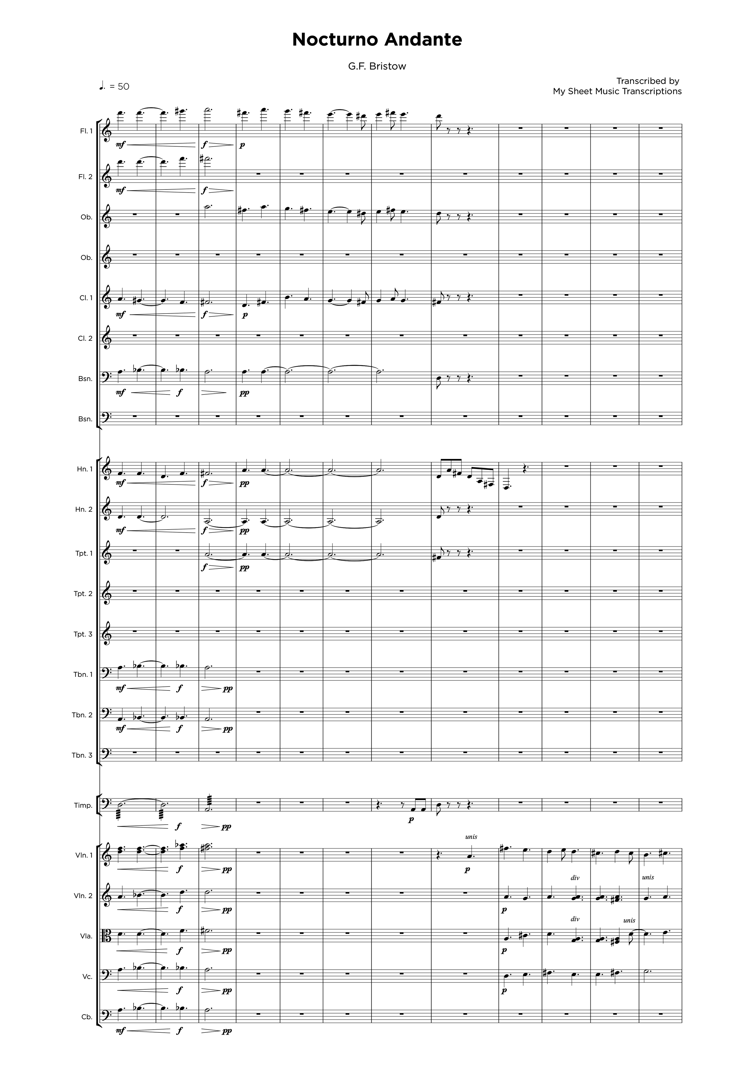 Nocturno Andante - Orchestra sheet music