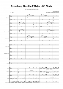 Symphony No. 6 in F Major - IV. Finale - Orchestra sheet music