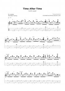 Time After Time - Cindy Lauper - Ukelele/Mandolin sheet music