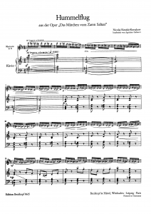 Original Hummelflug- Copying / Digitizing Services sheet music
