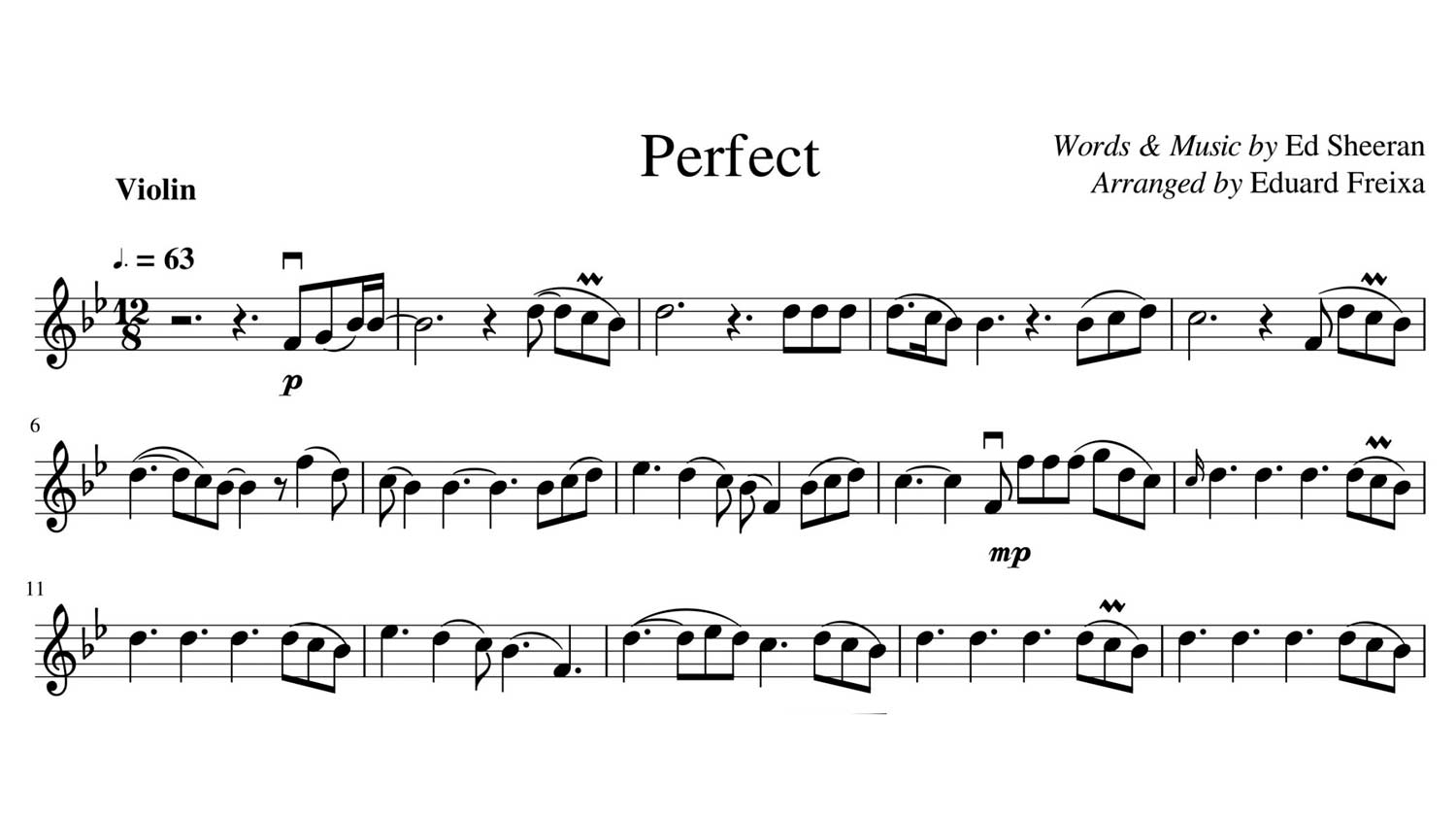 Eduard freixa sheet music transcription - My Sheet Music Transcriptions