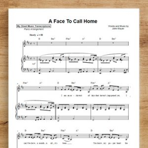 A Face to Call Home - John Mayer