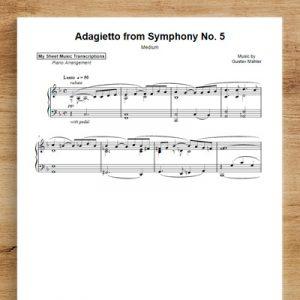 Adagietto from Symphony No. 5 [medium] - Gustav Mahler