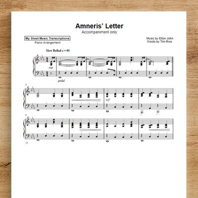 Amneris' Letter [accompaniment only] - Elton John