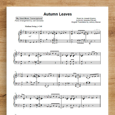 Autumn Leaves- Joel Gonzalez