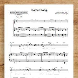 Border Song - Elton John