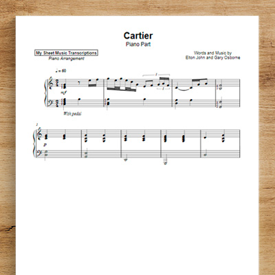 Cartier [piano part] - Elton John