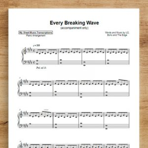 Every Breaking Wave [accompaniment only] - U2