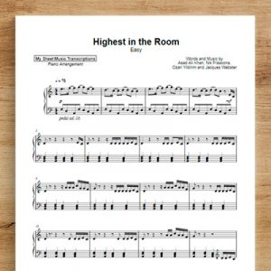 HIGHEST IN THE ROOM [easy] - Travis Scott