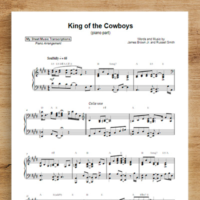 King of the Cowboys [piano part] - The Amazing Rhythm Aces