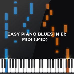Easy Piano Blues in Eb - midi file