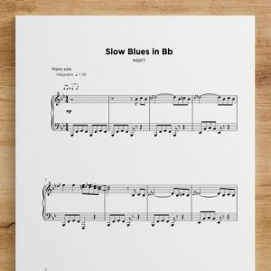 Slow Blues in Bb - Sheet Music by My Sheet Music Transcriptions