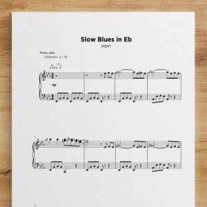 Slow Blues in Eb - Sheet Music by My Sheet Music Transcriptions