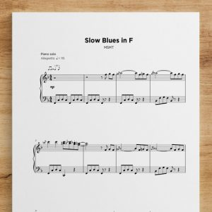 Slow Blues in F - Sheet Music by My Sheet Music Transcriptions