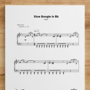 Slow Boogie in Bb - Sheet Music by My Sheet Music Transcriptions