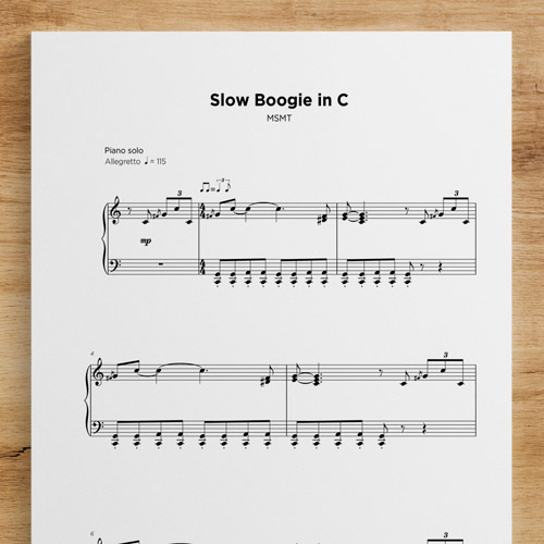 Slow Boogie in C - Sheet Music by My Sheet Music Transcriptions