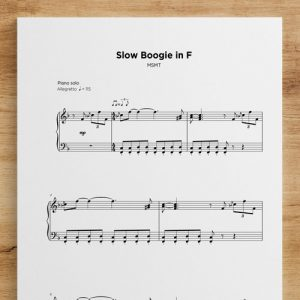 Slow Boogie in F - Sheet Music by My Sheet Music Transcriptions