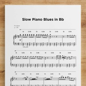 Slow Piano Blues in Bb