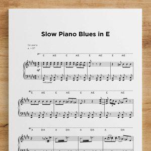 Slow Piano Blues in E