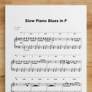 Slow Piano Blues in F
