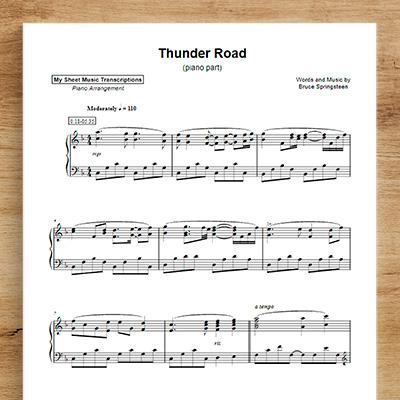 Thunder Road [piano part]
