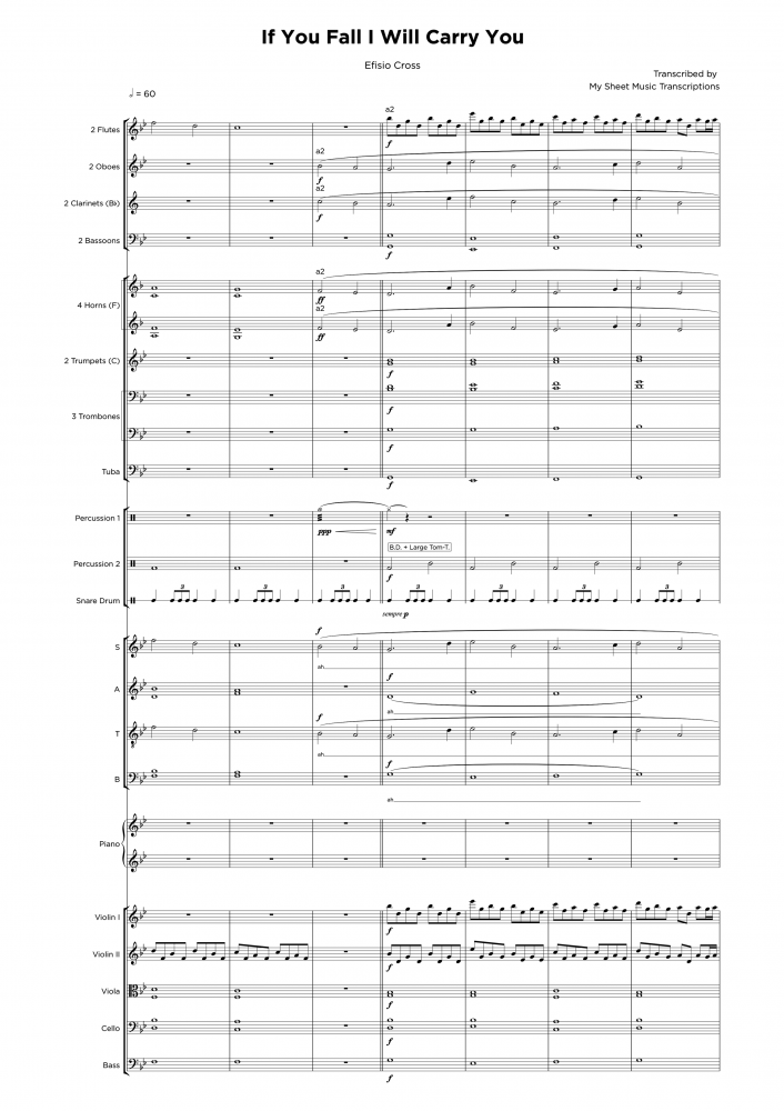 If you fall I willy carry you - Orchestra sheet music